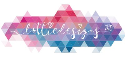 Lottie Designs wedding photographer logo from Lancashire fun and colourful