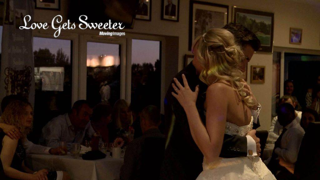first dance at Malkins Bank Golf Club wedding