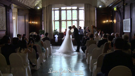 wedding videography during a portmeirion wedding ceremony in wales
