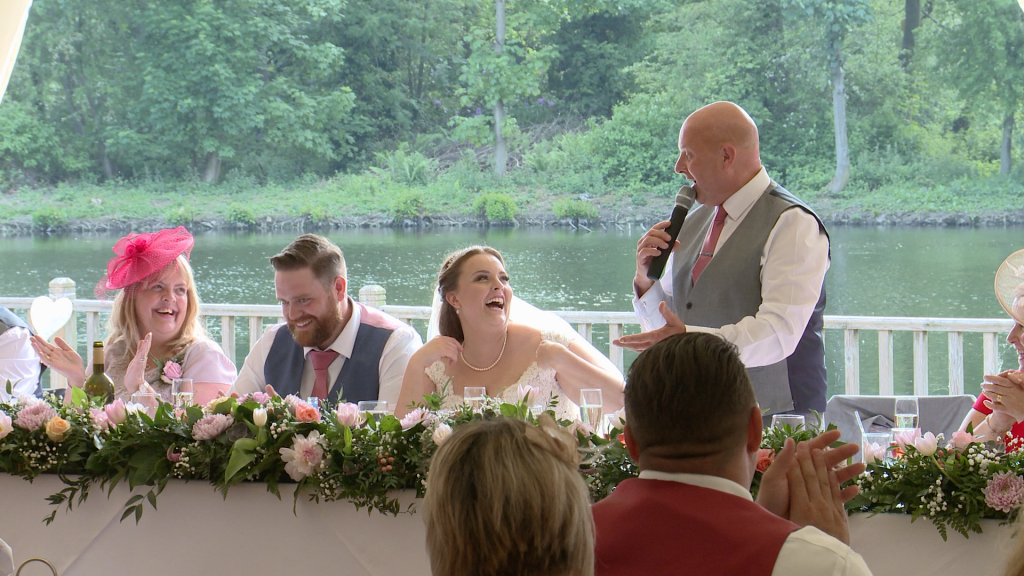 the father of the bride speech has everyone laughing out loud