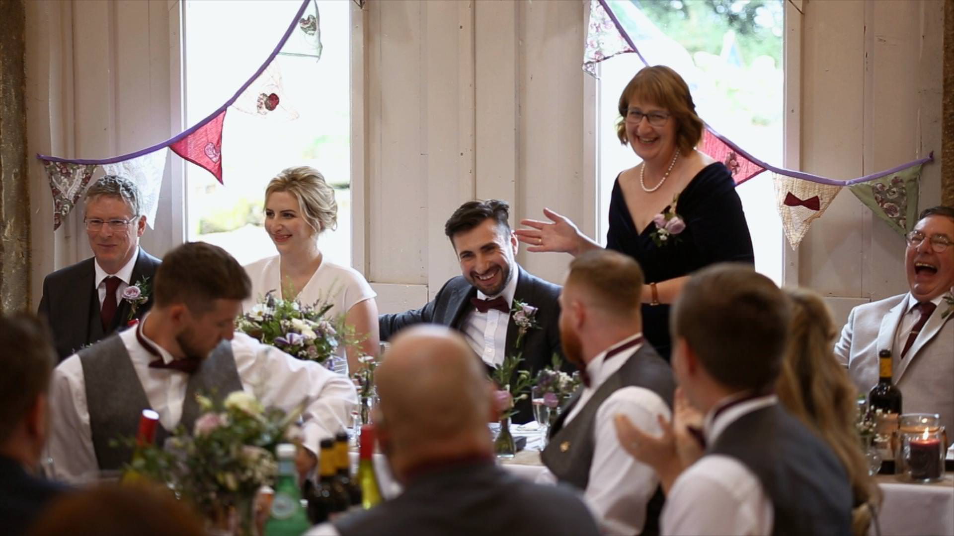 mother of the bride delivers a funny speech