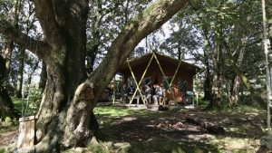 a wide video shot of a glamping tent at Wyresdale Park
