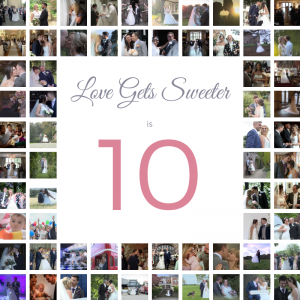 a photo montage from 10 years as a wedding videographer in the UK