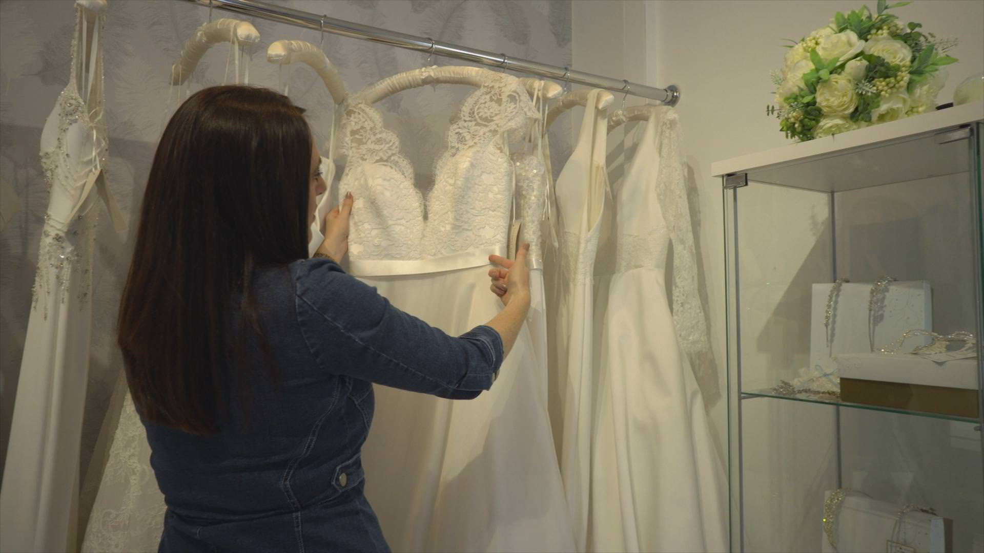 bridal boutique owner pulls out favourite wedding dress