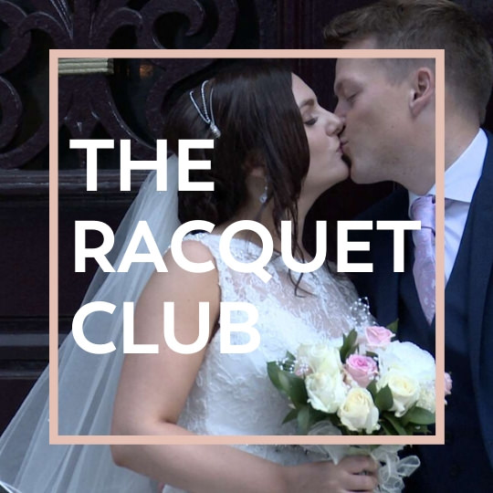 video still of embarrassed groom during wedding speeches at racquet club Liverpool