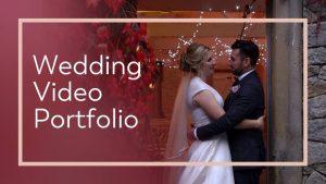 wedding videographer portfolio website button