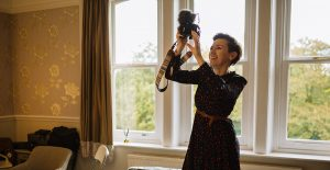 female videographer at Ashfield House Lancashire
