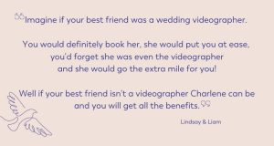 real wedding review of lancashire videographer