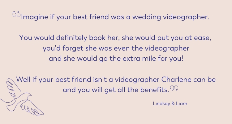 wedding review for friendly lancashire wedding videographer