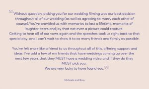 wedding video best decision made review