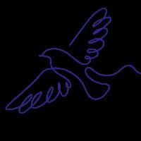 blue love gets sweeter bird illustration