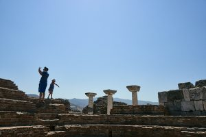 family explore St Johns Basilica in Turkey during covid19