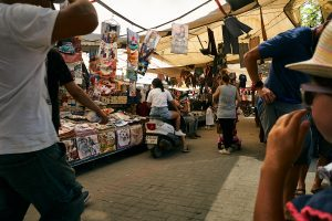 busy market in Turkey