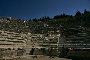 empty Ephesus arena during holiday in a pandemic