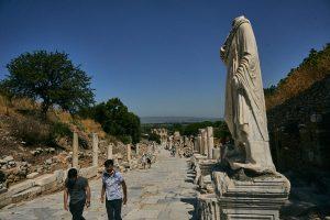 empty streets in Ephesus during coronavirus