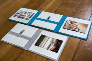 folio gift set with family photos and USB