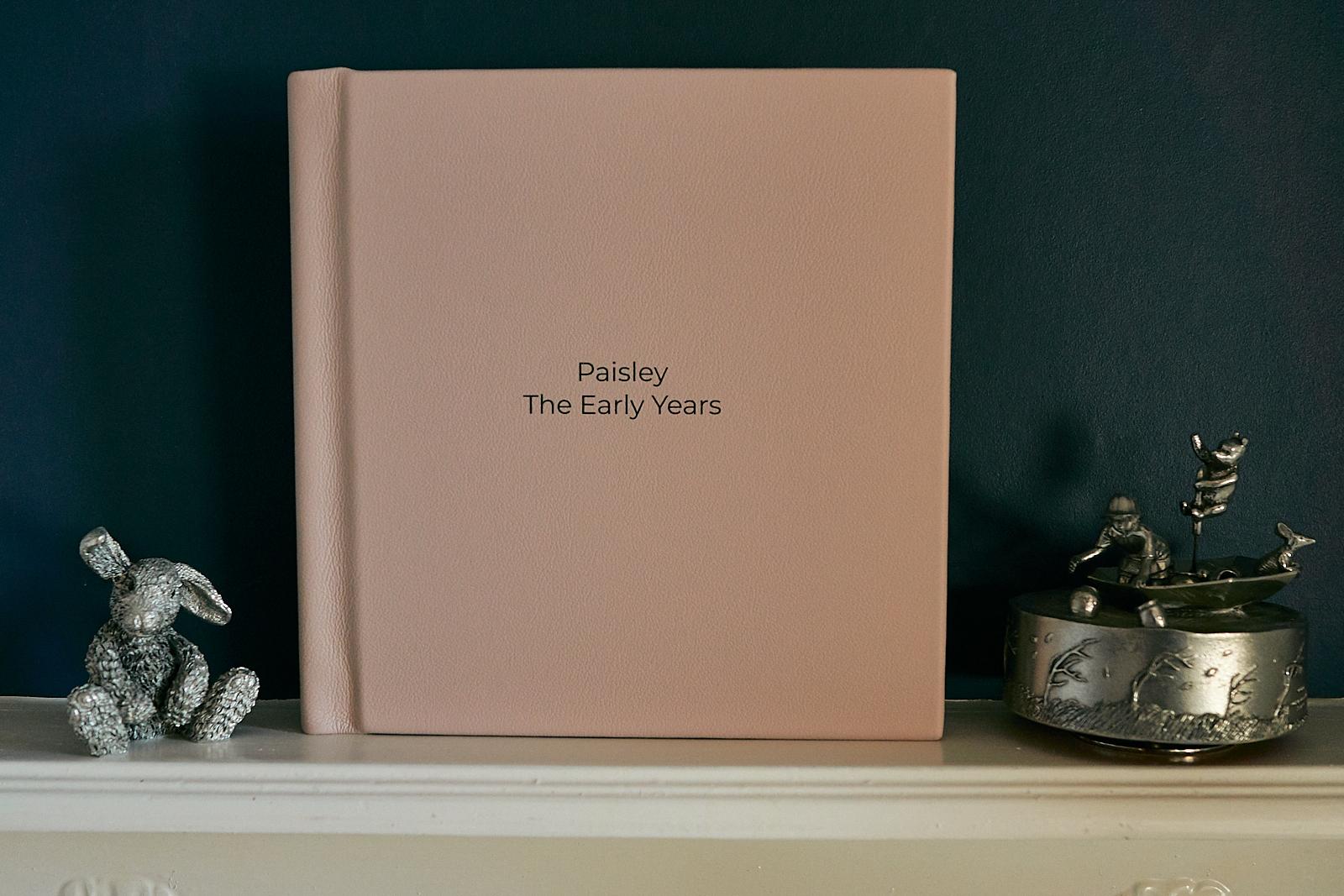 fine art family album in girls room