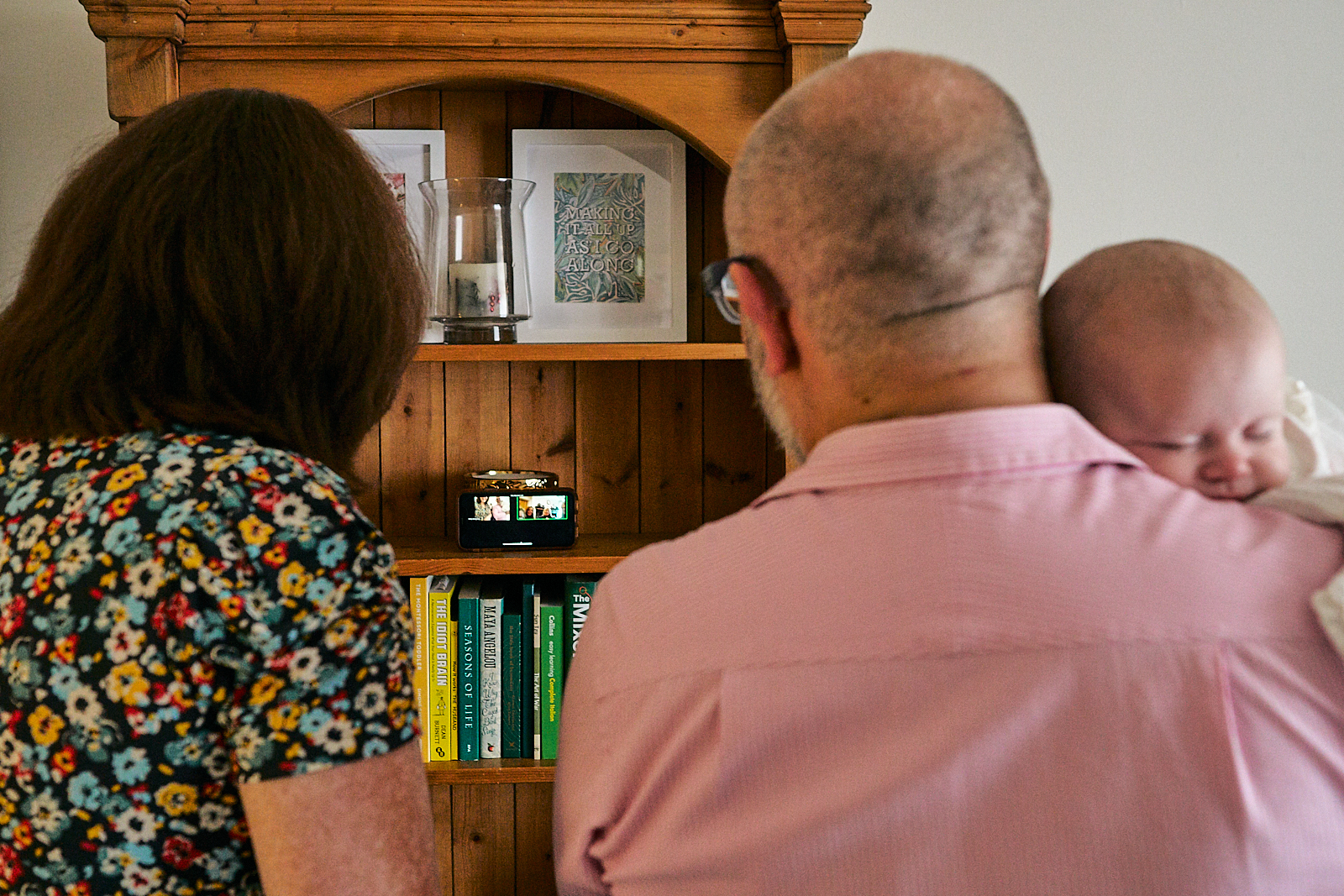 humanist naming ceremony conducted over zoom at home