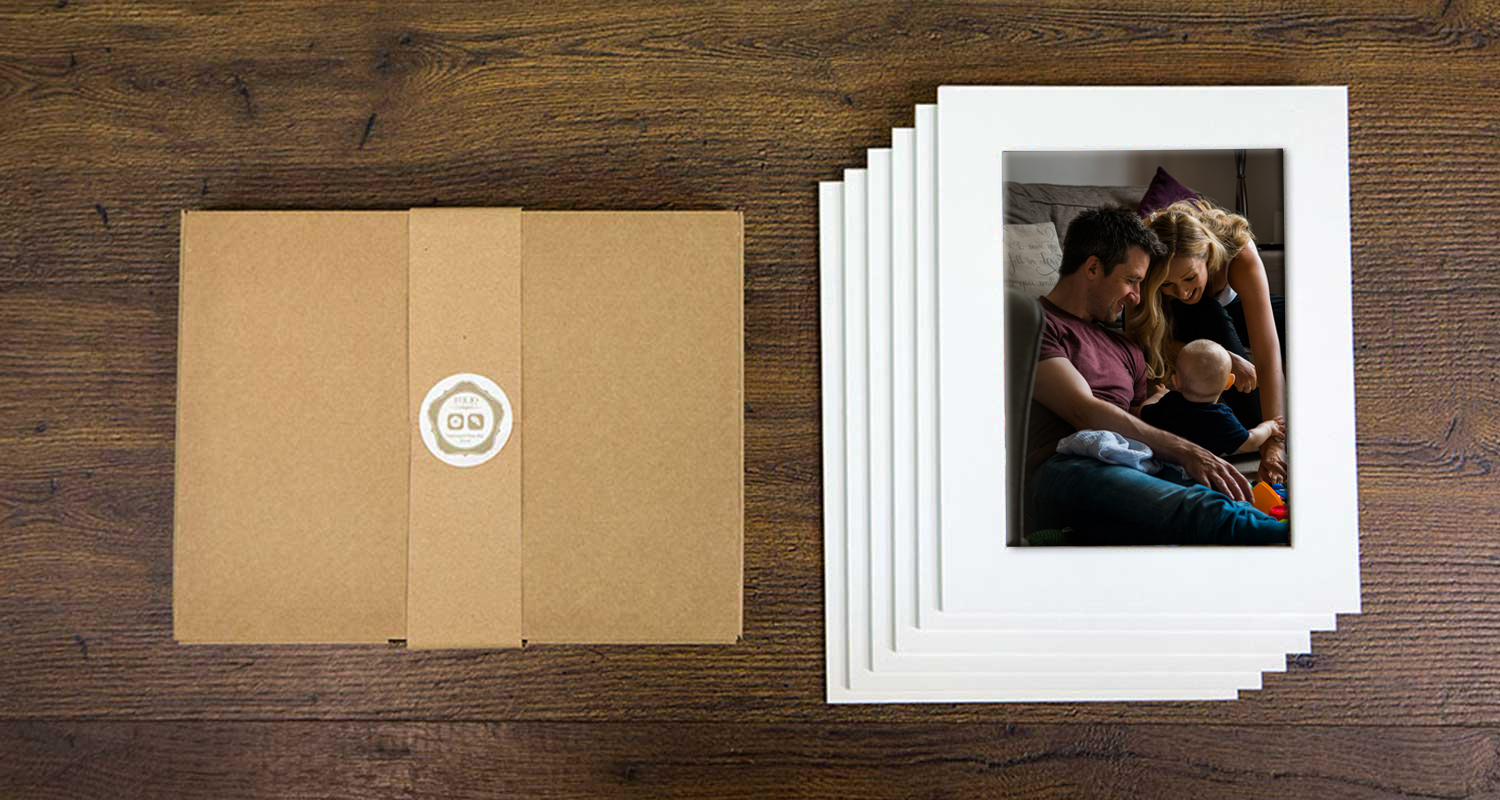 mounted family print pack gift set