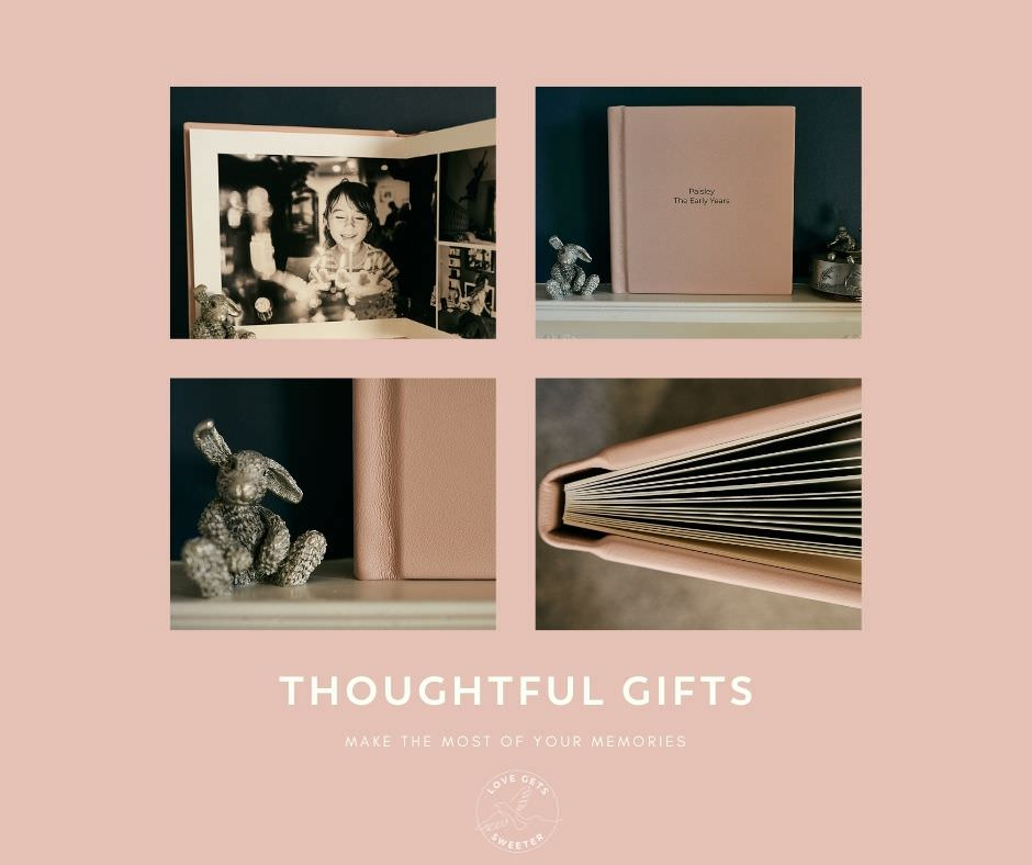 thoughtful gift advert for family photo album