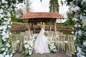 creative events ceremony styling at lily pond Browsholme