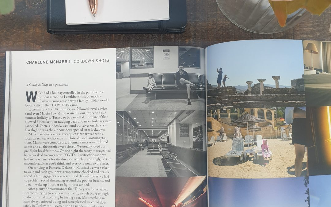 the bipp photographer magazine feature open on table