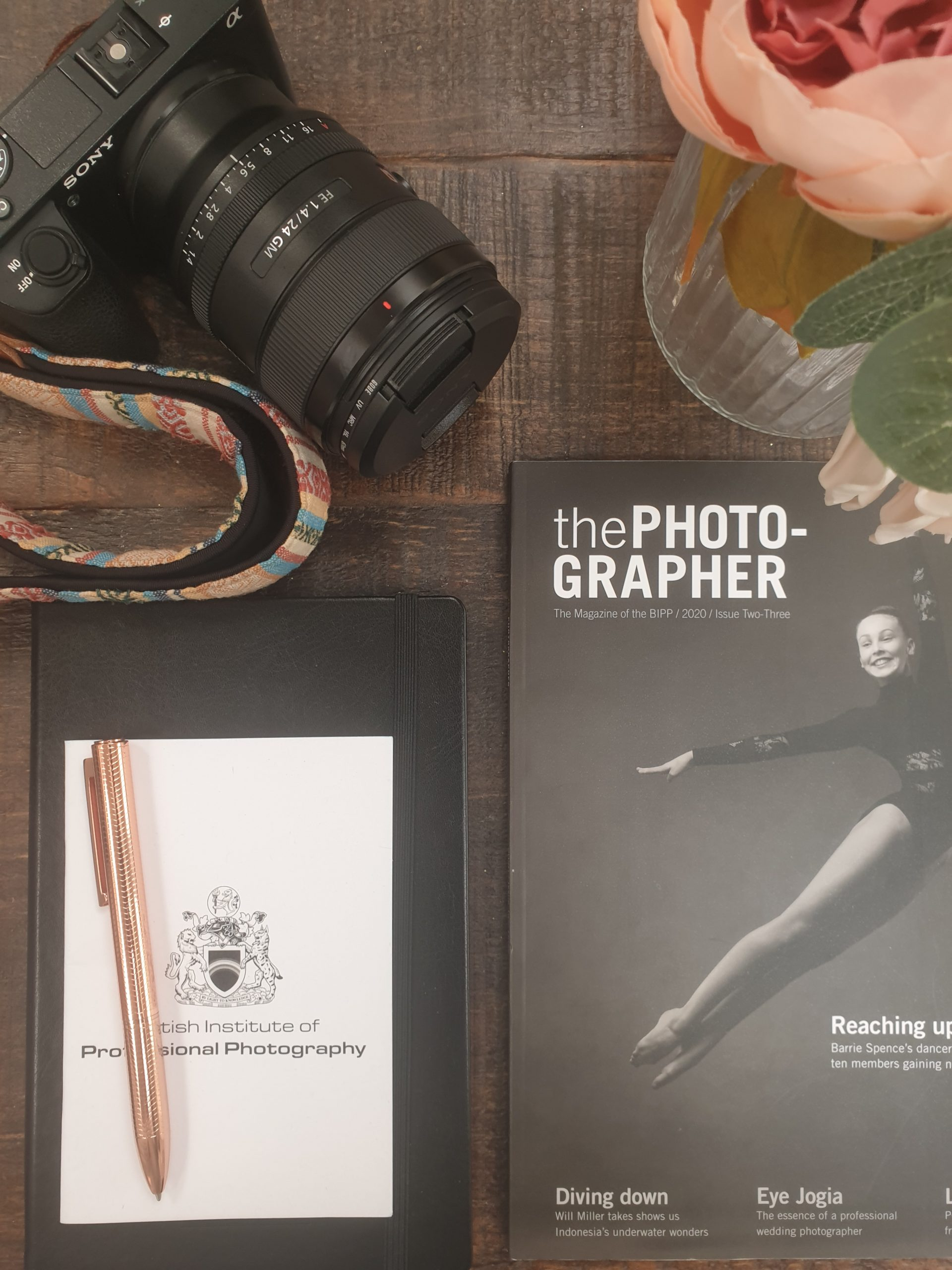 The photographer professional photography magazine and sony camera