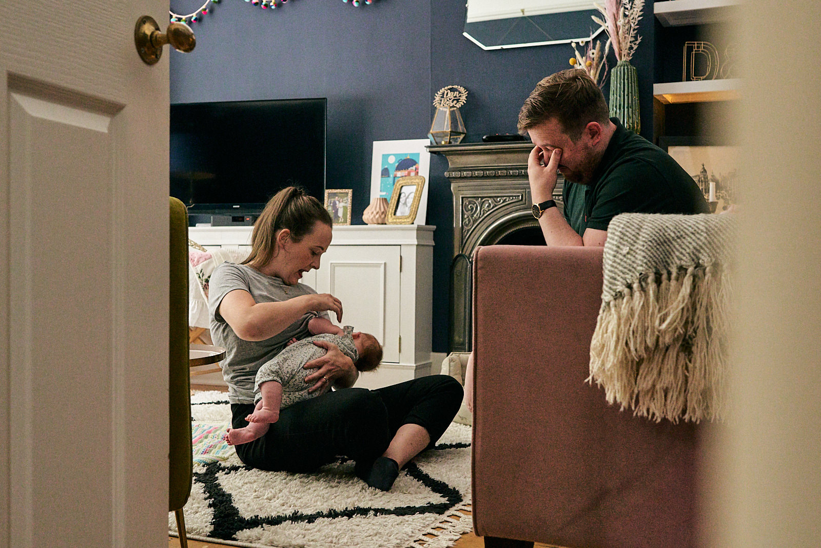 honest natural photo of family life in Wigan