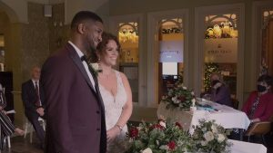 video still of couple getting married at Preston Marriott Lancashire