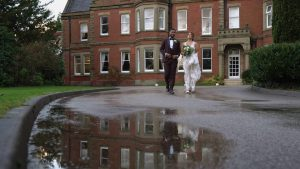 creative reflection video still of married couple at Preston Marriott
