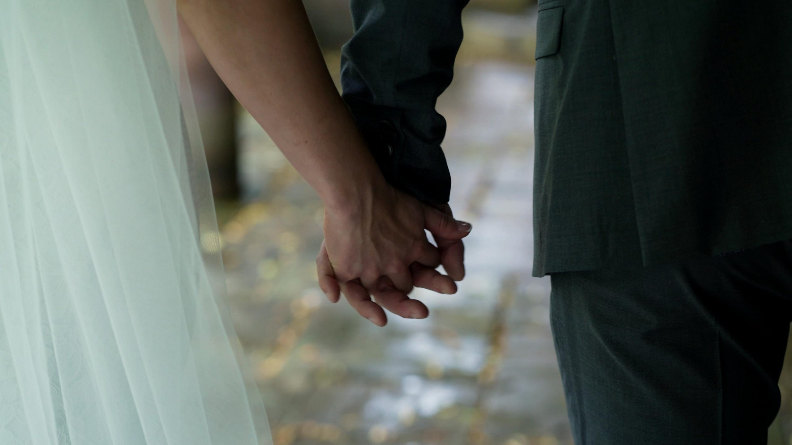 close up video of couples hands
